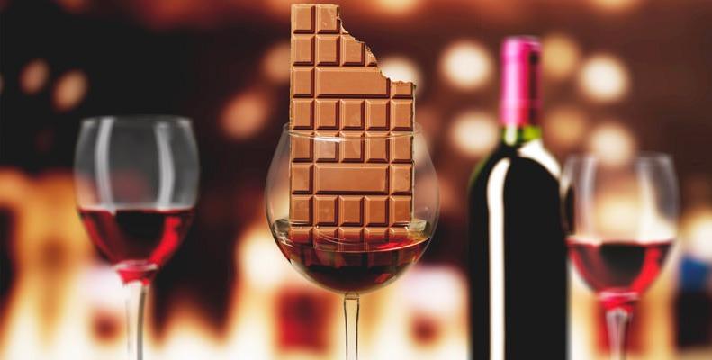 wijn bij chocolade